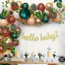 Sweet Baby Co. Woodland Shower Decorations Greenery Garland Forest Animals Theme
