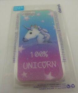 fits iPhone 6 plus, 7 & 8 + plus phone cover 100% Unicorn sparkle blue pink star