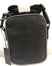 Ted Baker Embossed Small Flight Bag Black 100% Genuine