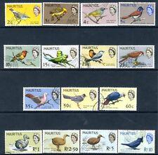 MAURITIUS-1965 Birds Set to 10r Sg 317-331 FINE USED V15633