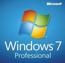 Microsoft Windows 7 Pro Professional SP1 X64 Bit DVD and Product License Key HDD