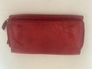 JAG Essential Multi Zip Wallet Red Clutch Flip