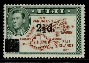 FIJI GVI SG267, 2½d on 2d brown & green, M MINT.