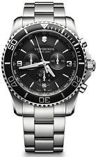 Victorinox Maverick Chronograph Black Stainless Steel Bracelet Mens Watch 241695