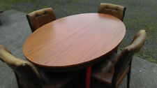 Teak with Additional Leaves and 5 Pieces Table & Chair Sets