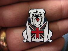 British Bulldog Moto Biker Pin Badge Moto Da Corsa UK Union Jack Cane