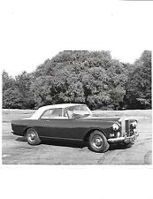 "ROLLS ROYCE SILVER CLOUD III D'HEAD COUPE ORIGINAL PRESS PHOTO""Brochure related"
