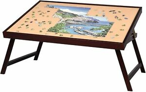 Wooden Jigsaw Puzzle Table Large Portable Folding Tilting Table Up To 1,500 Pcs