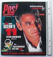 GEORGE CLOONEY OCEAN'S 11 STEVEN SODERBERGH Nov. 2001 POST Magazine LARGE FORMAT