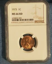 #FW 1973-P NGC MS65 RED Lincoln Memorial Cent!