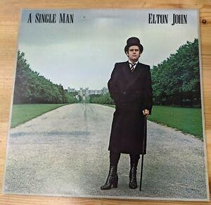"TRAIN 1 12"" 33RPM '78 ELTON JOHN ""A SINGLE MAN"" Gate A2/B1 ISSAC RULES EX/VG"