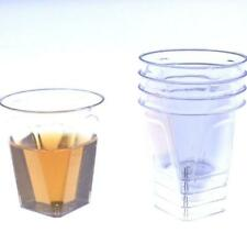 500 Plastic Shot Glasses Mini  Party Shooter Glass Cups Disposable FREE SHIPPING
