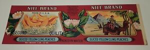 Nile Brand Yellow Cling Peaches Label California Packing San Francisco Camels