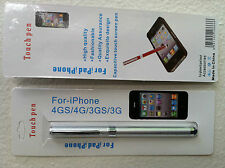 Touch Screen Stylus 2-IN-1 Pen For All Tablets & All Smartphones Silver