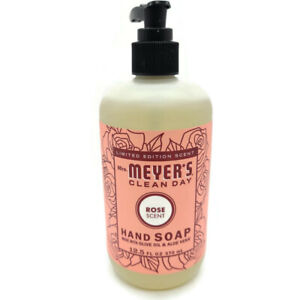 Mrs Meyers Clean Day Rose Hand Soap Olive Oil Aloe Vera Free Ship
