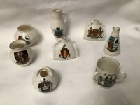 WH Goss Crested China Ware - 8 Pieces Lot 2