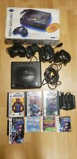 Sega Saturn, Black, MK-80000, Tested and Working, All Cords, 4 controllers,