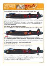 3 Lancasters Registration Decal//Sticker BBMF*WW2*Just Jane*Thumper*Vera*PA474