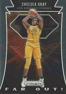 2020 WNBA PANINI PRIZM * CHELSEA GRAY FAR OUT * INSERT CARD #4 LA SPARKS
