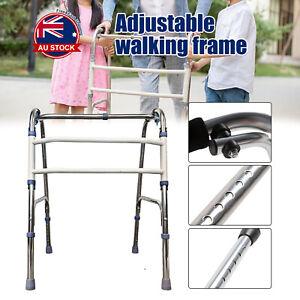 Adjustable Height Folding Aluminium Walking Frame Medical Walker Mobility AU *