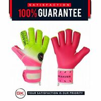 Football Goalkeeper Gloves Semi Negative Flat Mix Cut GK Saver Passion Ps08 Pink