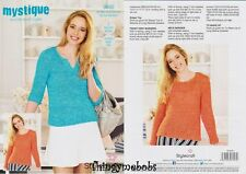 Stylecraft 9382 Knitting Pattern Quick and Light- Sweaters in Mystique
