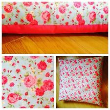 💕 Large Floor Teepee Shabby Chic Cushion Cover 80x80cm Pink and Blue Floral 💕