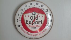 Old Export Beer Thermometer Bubble Glass, Working, Cumberland Brewing, Maryland