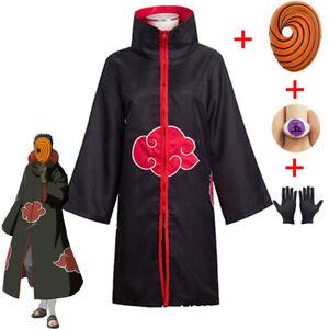 Costume Cosplay Uchiha Tobi Full Ninja Obito Madara Set Suit Akatsuki Toby Adult
