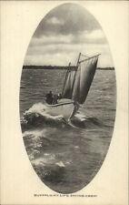 Buffalo NY Life Saving Crew Sailbit Boat c1910 Postcard