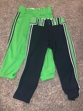 boombah green white navy softball pants size S(28)