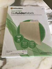 File Folder Labels Laser Inkjet Printers Cut White Office School Supplies OM9633