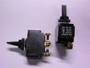 2 Carling E60272 / LR39145 SPDT (ON)- OFF-(ON) Momentary Toggle Switches