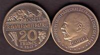 ★★★ JOLIE COPIE DE L'ESSAI BRONZE DE BOUCHARD DE LA 20 FRANCS 1941 PETAIN ★★★