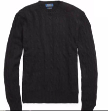 POLO RALPH LAUREN Cashmere Cable-Knit Men's Sweater SMALL Hunter Navy / $398.50