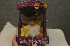 RARE TIGER STRIPPED  FURBY 1999 NEW IN BOX.BLUE EYES FRESH NEW LOOK