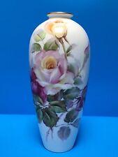 Noritake Bone China Nippon Toki Kaisha Japan Hand Painted Signed Rose Vase