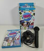 Sing Party + Official USB Microphone - Nintendo Wii U Boxed PAL UK Fast Free P&P