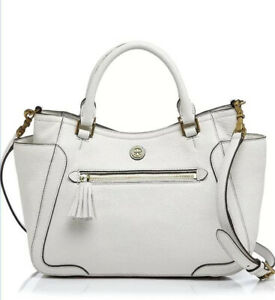 Tory Burch Satchel Small Frances with Crossbody Strap Leather