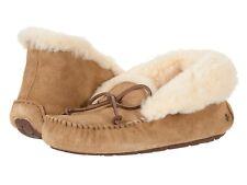 4a35305e856 UGG Australia Alena Chestnut Brown Fur Slippers Womens 9