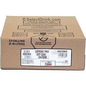 Caffeine Free  Diet Coke 2.5 GAL BIB Soda Fountain Concentrate Syrup Bag in Box