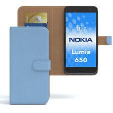 Custodia per Nokia/Microsoft Lumia 650 CASE WALLET guscio protettivo cover blu chiaro