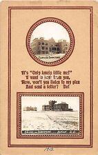 B1/ Huron South Dakota SD Postcard Real Photo RPPC 1912 Vorhee's College Dorm