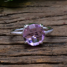Awesome Pink Kunzite Gemstone 925 Sterling Silver Handmade Ring All Size