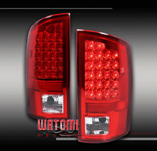 02-06 DODGE RAM 1500/03+ 2500/3500 PICKUP LED TAIL BRAKE LIGHTS LAMPS RED/CLEAR