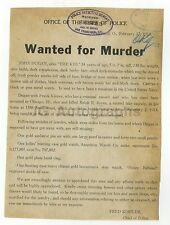 Wanted Notice - John Dugan/Murder - Cleveland, OH - 1913