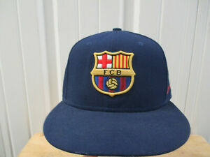NIKE FC BARCELONA SEWN LOGO SNAPBACK CAP HAT NEW WITHOUT TAGS SPAINISH LIGA