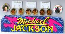 MICHAEL JACKSON 8+ ITEMS 1980s EARRINGS-PINS-CARDS-MORE