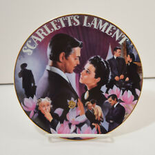 Gone With The Wind Musical Treasures Scarletts Lament Plate Aleta 1996 Bradford