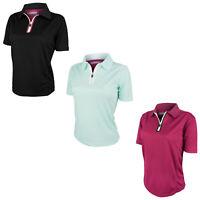 Benross Ladies Pearl Pro Shell Polo Shirt - New Zipped Golf Top T-Shirt Tee